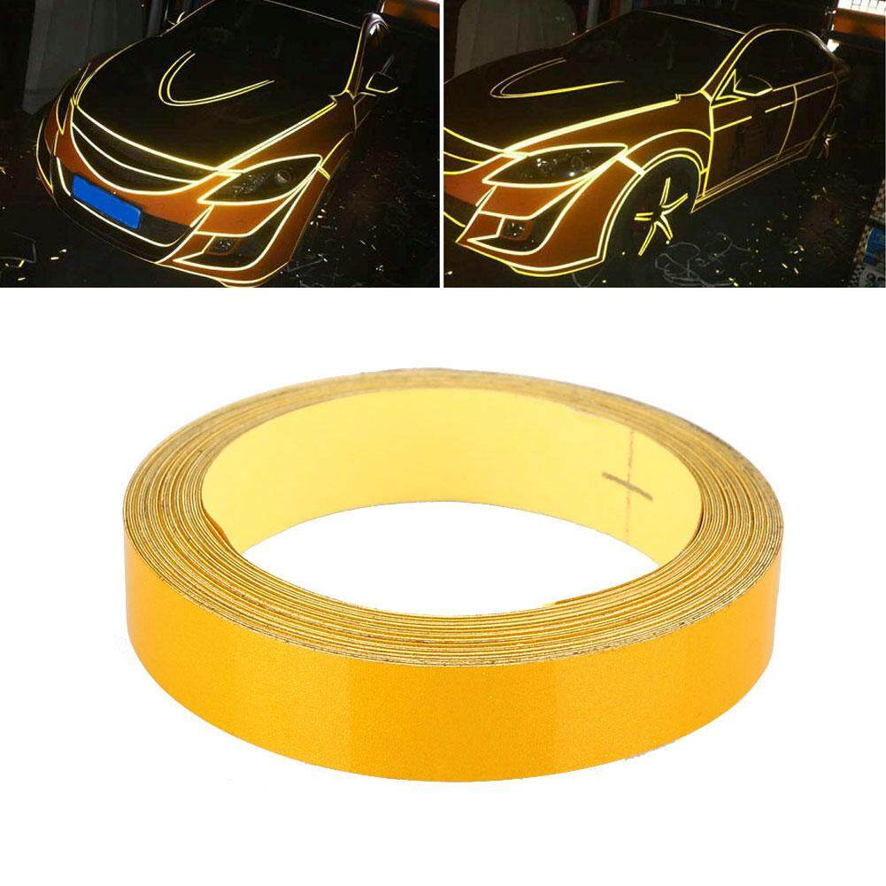Boom Car Auto Reflective Strip Safety Warning Conspicuity Tape Sticker 1CMx5M - intl