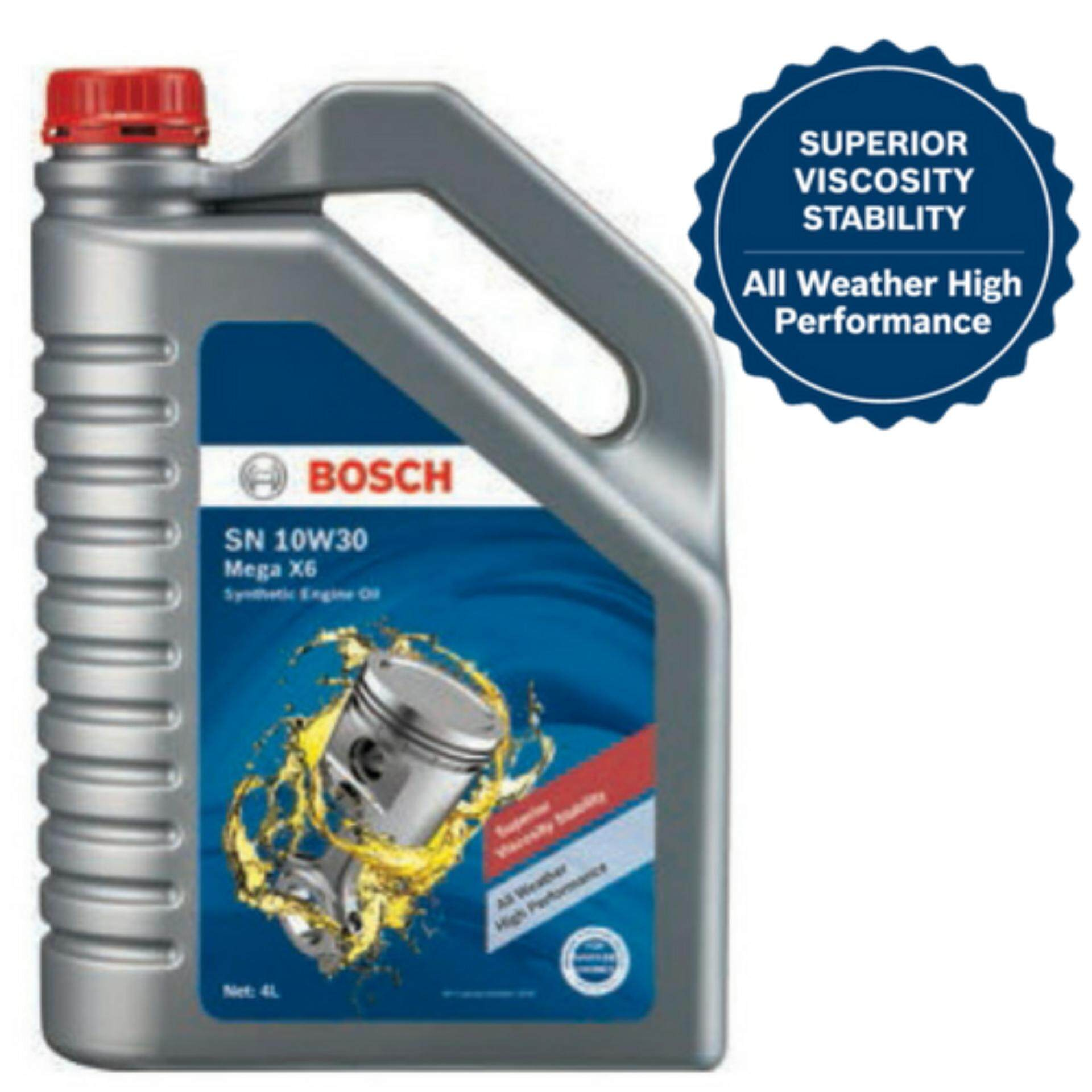 BOSCH SN 10W30 Mega X6 Semi Synthetic Engine Oil - 4L