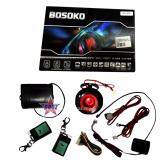 Broz Bosoko 4-Button Full Set Multi Function Car Alarm System with Shock Sensor and Siren - T091