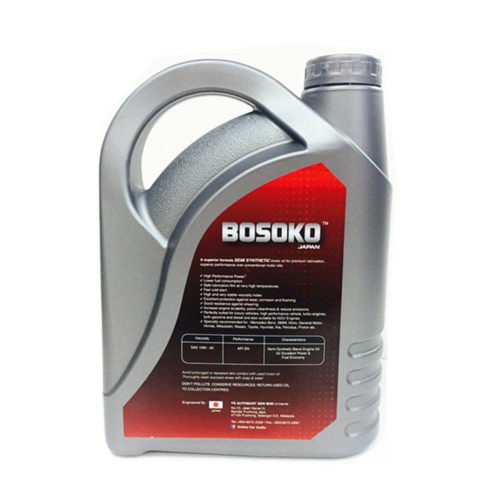 Bosoko Racing Motor Oil SAE 10W-40SN Semi Synthetic Engine Oil 4L