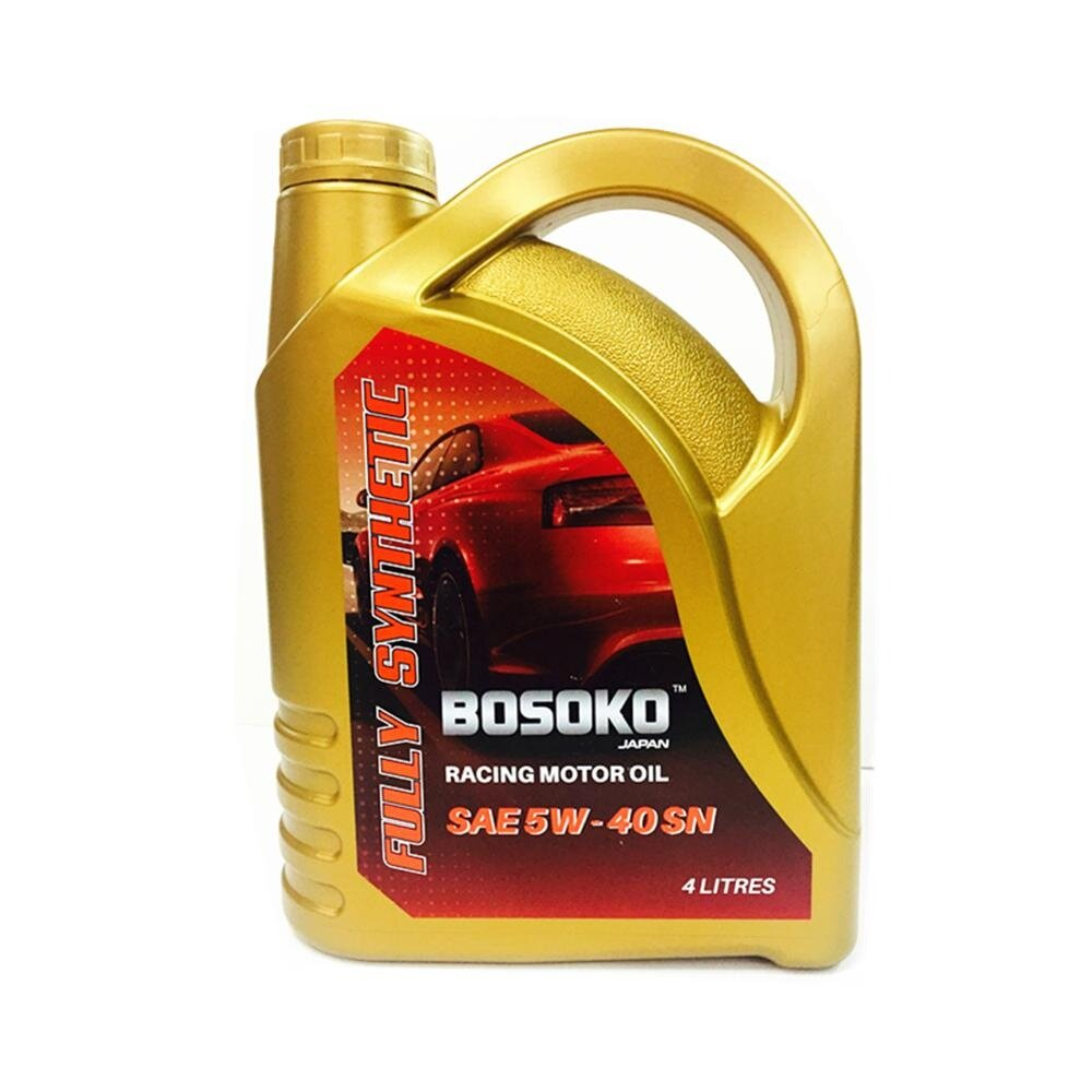 Bosoko Racing Motor Oil SAE 5W-40SN Fully Synthetic Engine Oil 4L