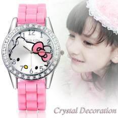 8c93987db Brand Cartoon watches Women Silicone Jelly children girls dress Quartz  WristWatch kids hellokitty watches Malaysia