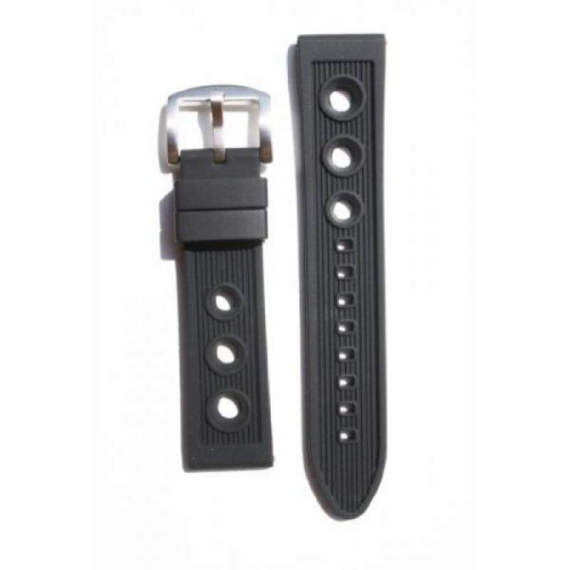 Breitling Rally Style 22mm Black Rubber/Silicone Replacement Watchband Malaysia