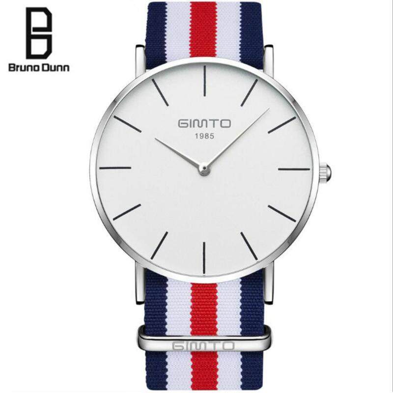 Bruno dunn unisex mens womens watch Casual Retro leisure canvas Top Luxury Brand quartz watch for girls boys Malaysia