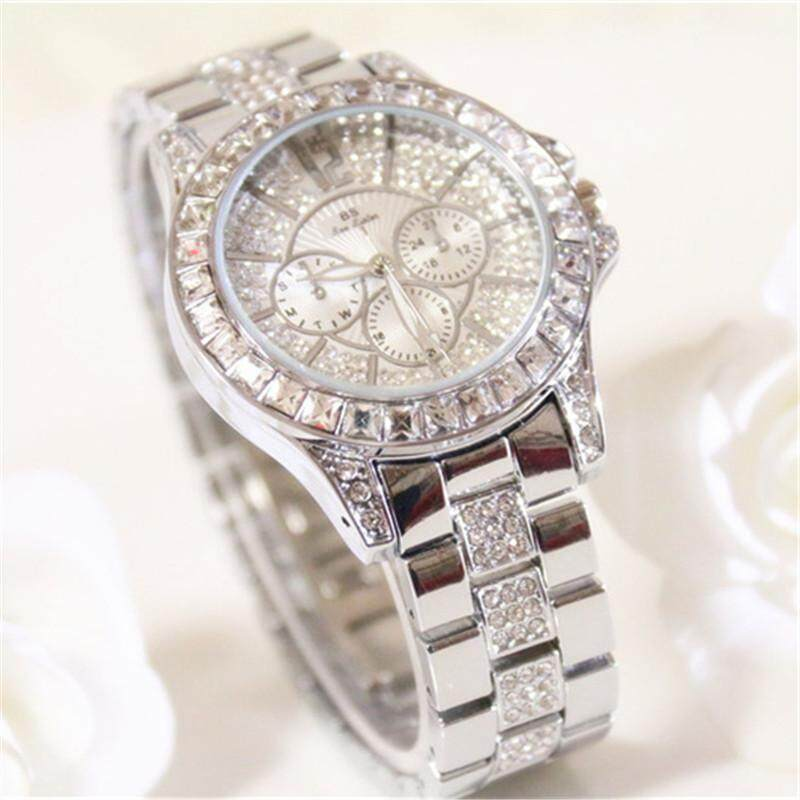 Bs Women Dress Watches Rhinestone Gold Watch Wristwatches Best Gifts For Friends Malaysia