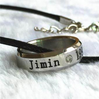 BTS Bangtan Boys Wings Album Jimin Rope Ring Accessories KPOPJewelry Rings With Lanyard