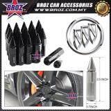 Broz Buick High Quality Aluminum Universal M12 x P1.5 Wheel Nut - Black (20PCS)