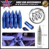Broz Buick High Quality Aluminum Universal M12 x P1.5 Wheel Nut - Blue (20PCS)