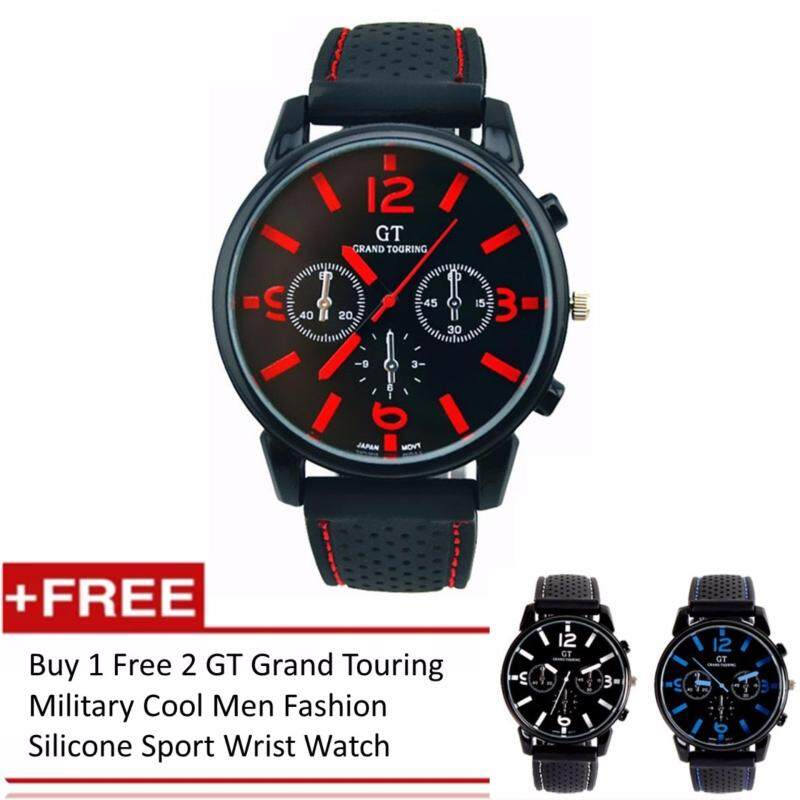 [Buy 1 Free 2] GT Grand Touring Military Cool Men Fashion Silicone Sport Wrist Watch Malaysia