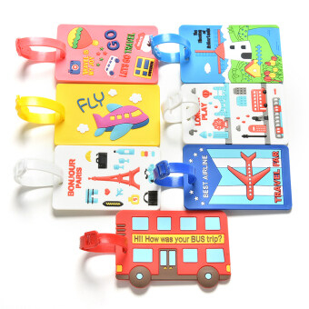 Buytra Luggage Tags Labels Strap Name Address ID Suitcase BagBaggage Travel Label Yellow Plane - 3
