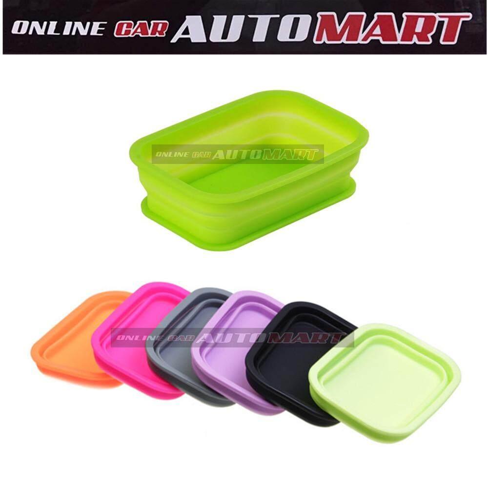 Car Non Slip Silicone Foldable Storage Box - Green