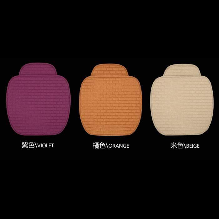 Car seat cushion warm soft car seat cover (3 pcs) violet