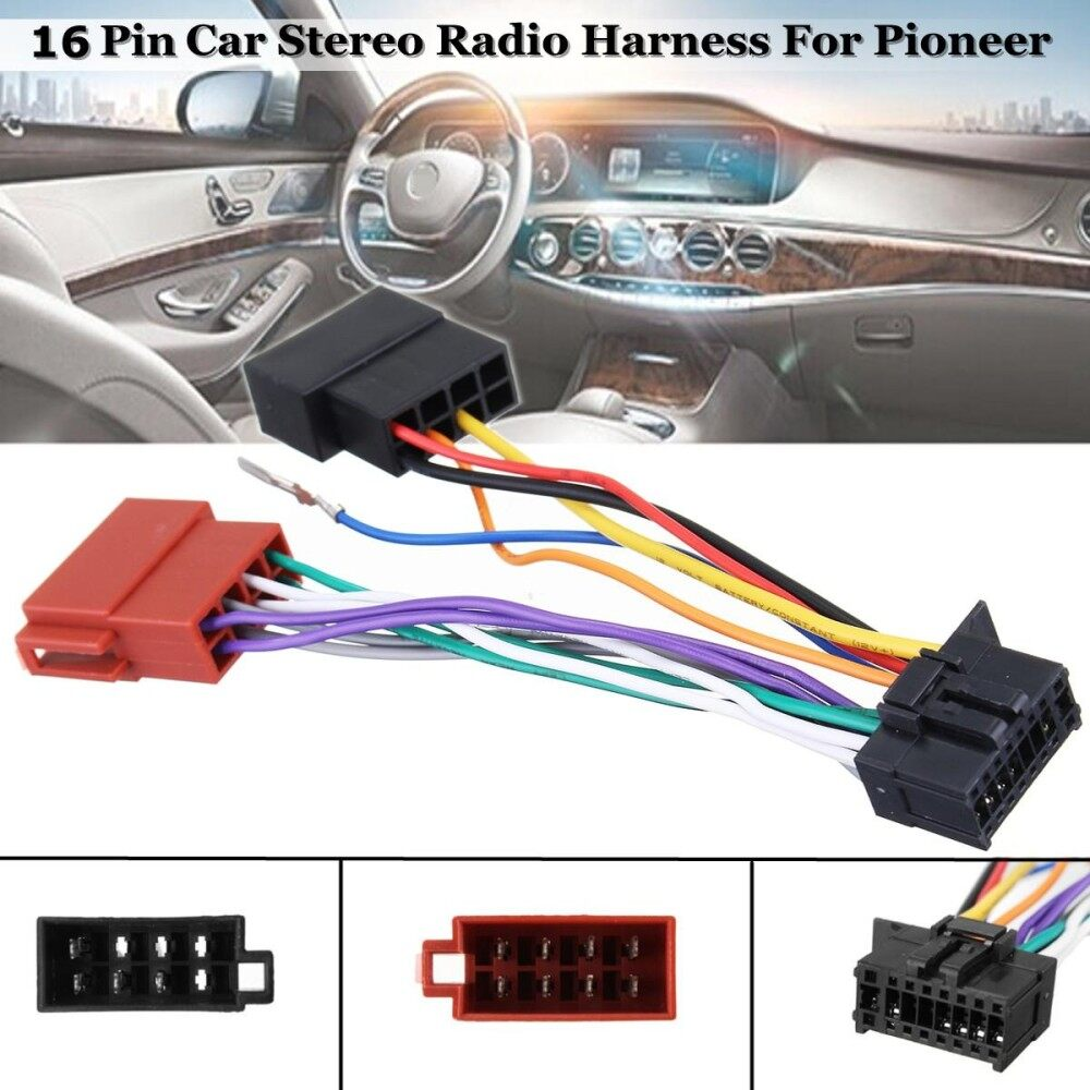 The Price Of Cd Player Wiring Harness Wire Aftermarket Radio Install Car Stereo Iso Connector 16 Pin For Pioneer 2003 On