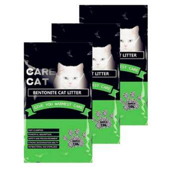 Care Cat Bentonite Cat Litter 10L Apple x 3