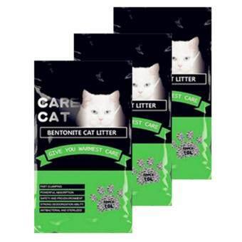 Care Cat Bentonite Cat Litter 10L Apple x 3