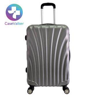 Harga Case Valker Travel Luggage ABS Hard Case Shell Curve Shape Luggage Bag 24 inches (Grey)