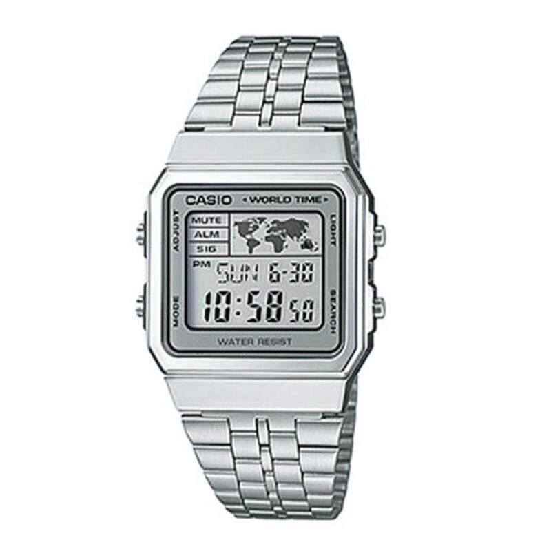 Casio A500WA-1DF Men Standard Silver Dial Stainless Steel Strap Watch (100% Authentic) Malaysia