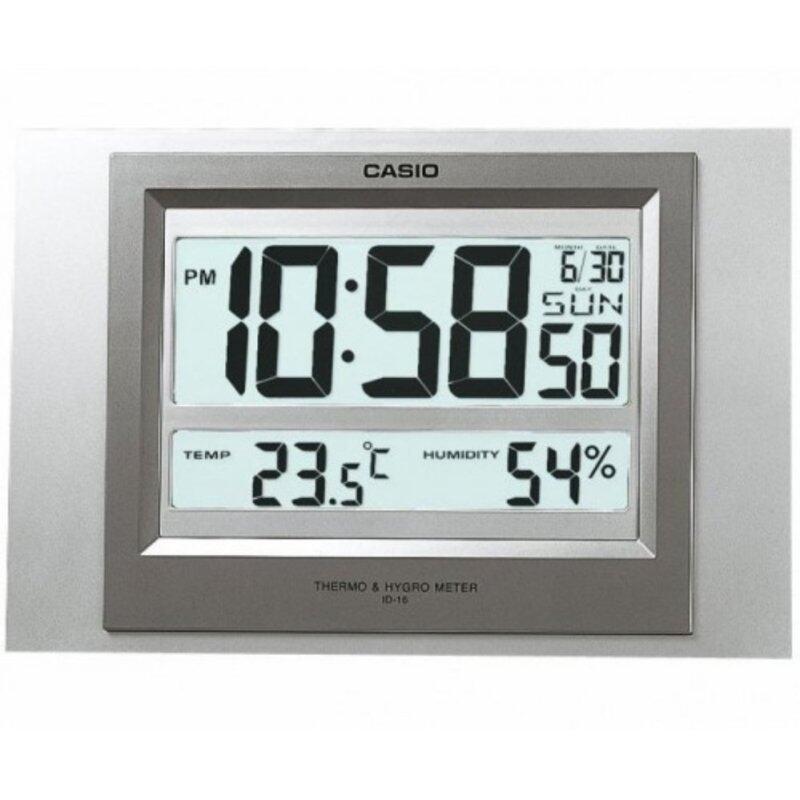 Casio Alarm Clock ID-16S-8D Thermometer Hygrometer Digital Calender Clock Malaysia