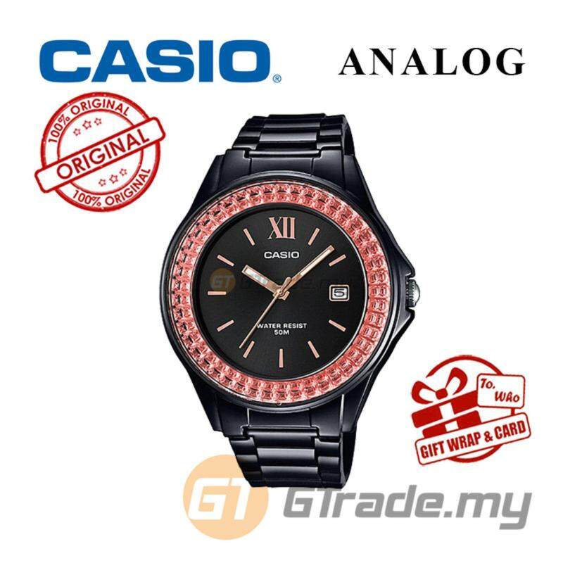 CASIO ANALOG LX-500H-1EV Ladies Watch - Shiny Ring Date Display Malaysia