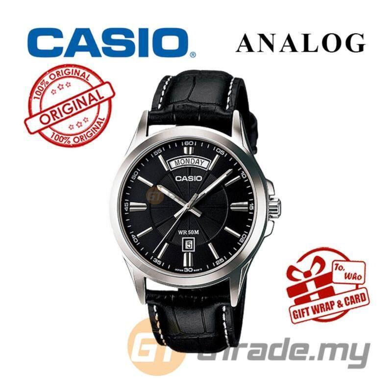 CASIO ANALOG MTP-1381L-1AV Men Watch - Day Date 50 Meter Water Resist Malaysia