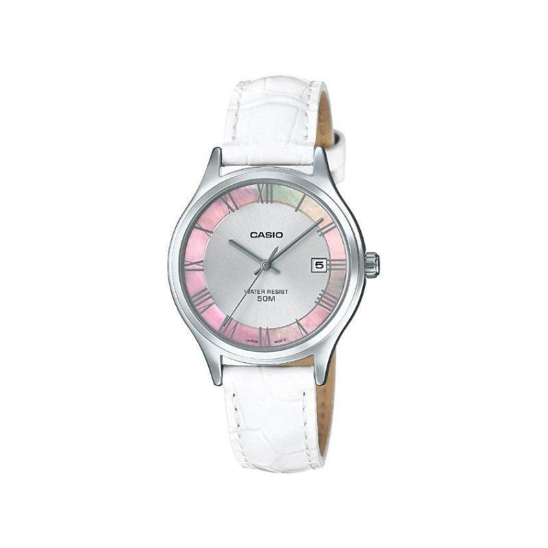 Casio General LTP-E142L-7A1VDF White Leather Band Women Watch Malaysia