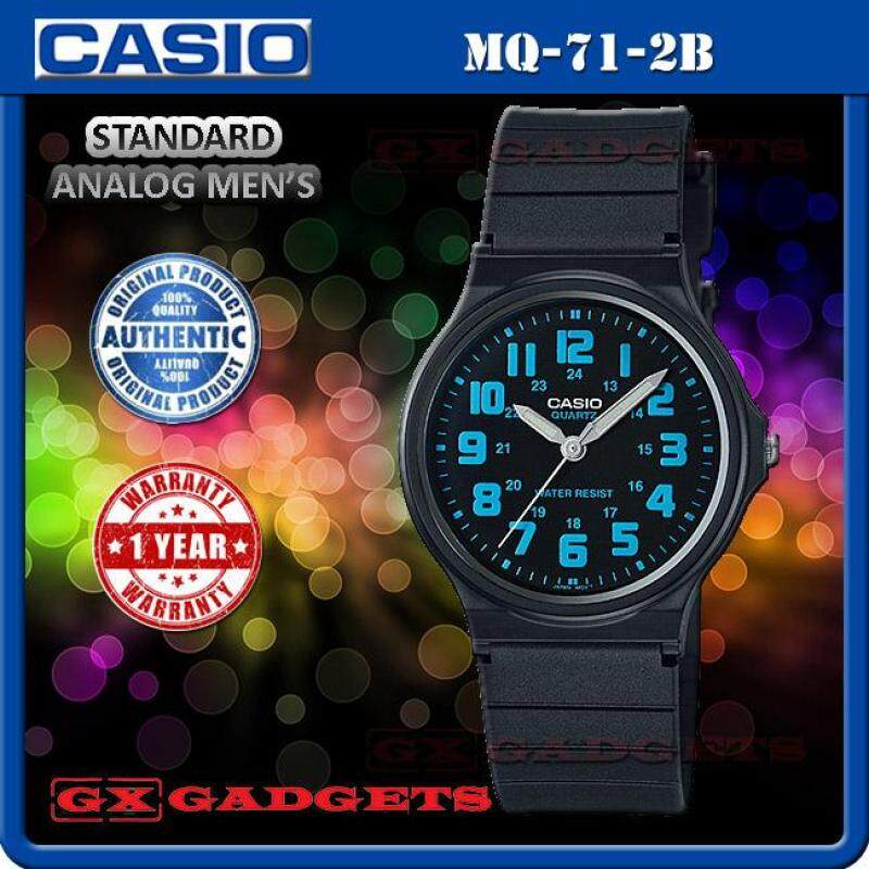 Casio Mq-71-2B Standard Analog Mens Watch Luminous 2Hand Resin Band Wr Malaysia