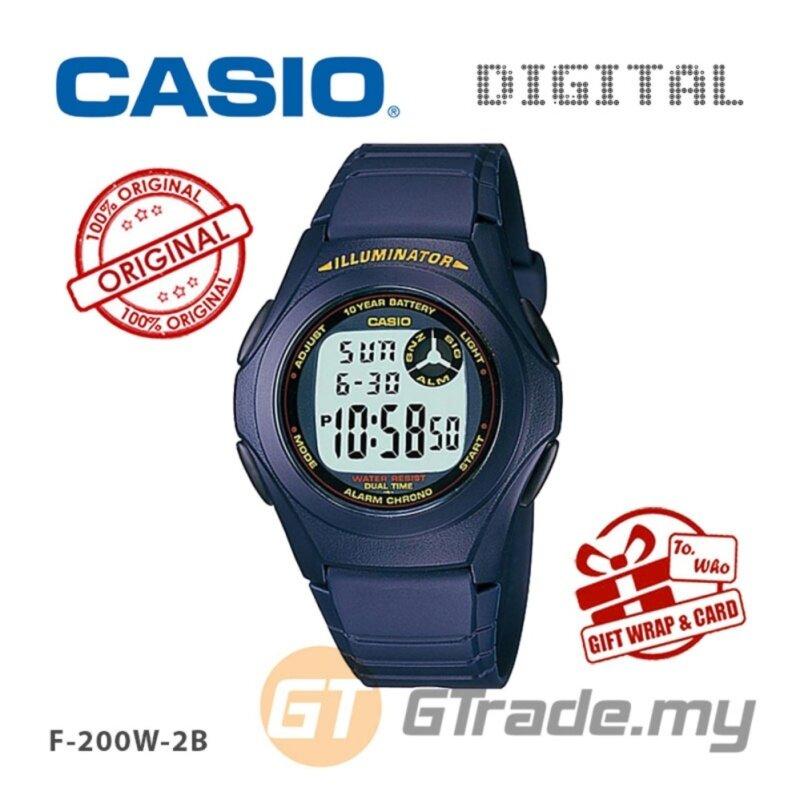 CASIO STANDARD F-200W-2A Digital Watch | Classic Simple Young Design Malaysia