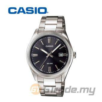 Casio Standard MTP-1302D-1A1V WR50m Analog Mens Watch Date Display - Black