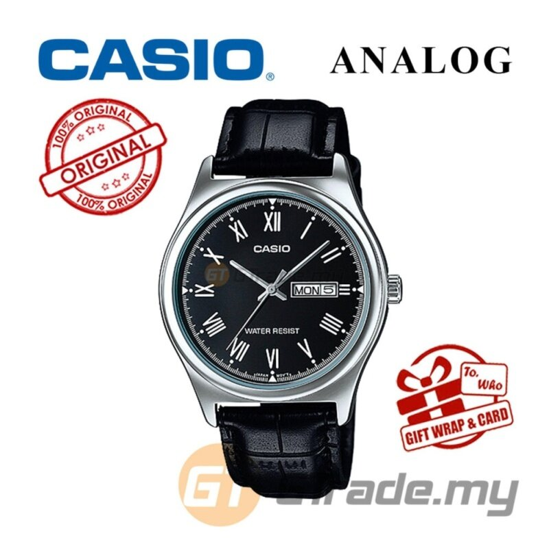 CASIO STANDARD MTP-V006L-1BV Analog Mens Watch - Leather Day Date Malaysia