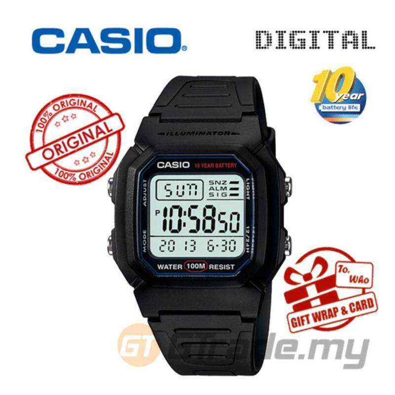 Casio Standard W-800H-1AV Digital Watch - Classic Look 10Y Battery Malaysia
