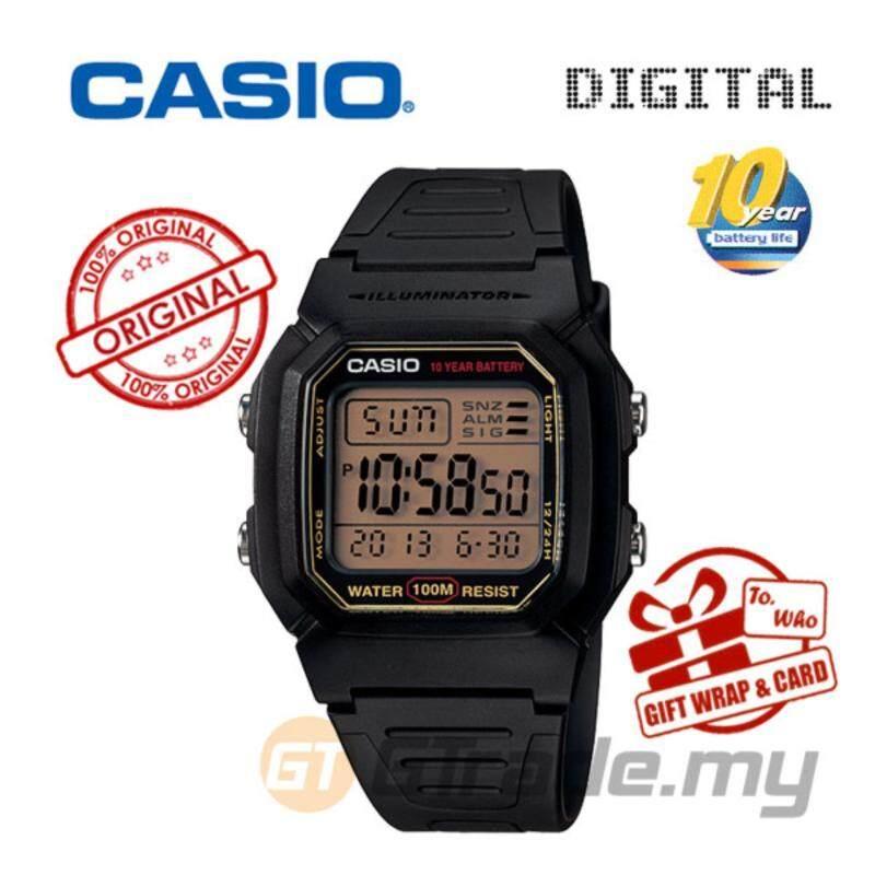 CASIO STANDARD W-800HG-9AV Digital Watch - Classic Look 10Y Batt. Malaysia