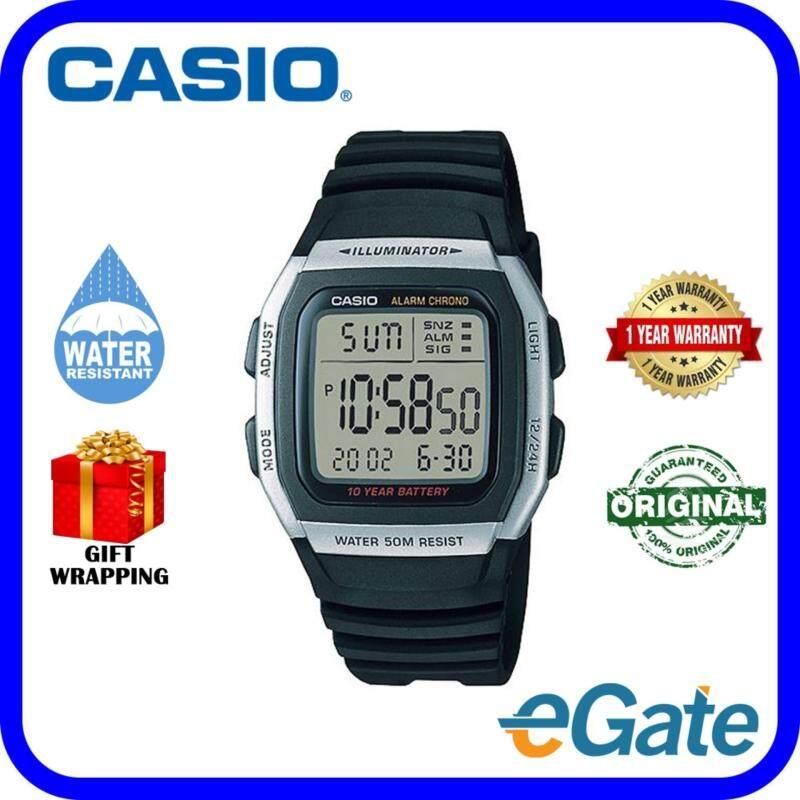Casio W-96H-1A Digital Unisex Watch Black Grey Casual Original Malaysia