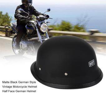 Harga CHEER Matte Black German Style Vintage Motorcycle Helmet Half Face German Helmet XL