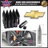 Broz Chevrolet High Quality Aluminum Universal M12 x P1.5 Wheel Nut - Black (20PCS)