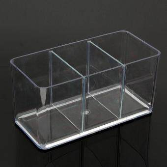 Harga Clear Acrylic Rectangle Shape Three-Way Betta Fish Tank AquariumGarden Decor