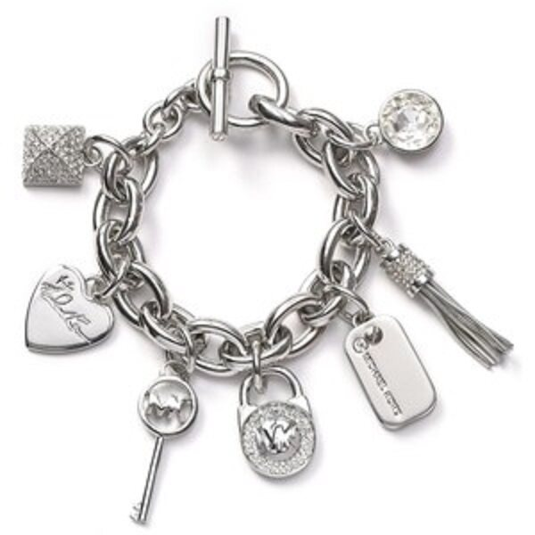 CLEARANCE BELOW COST - FREE SHIPPING- 18KGP Charm Bracelet - WAS RM129