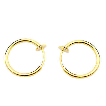 clip on nose ring ear lip earrings non piercing gold lazada