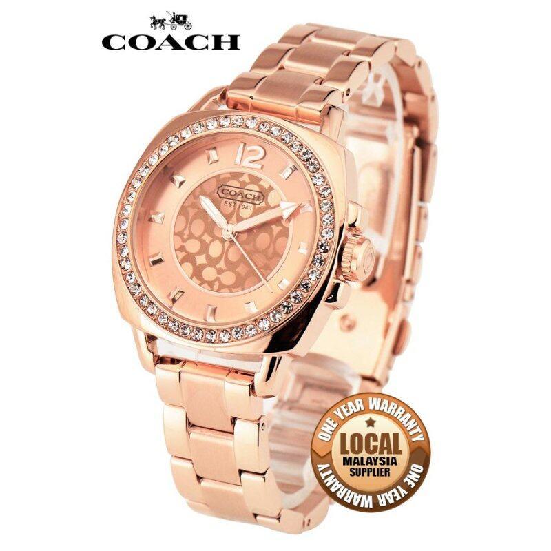 Coach 14501701 Mini Boyfriend Round Rose Gold-tone Womens Watch (Rose Gold) Malaysia