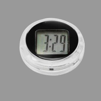 Fitur Lcd Automotive Digital Car Clock Self Adhesive Stick