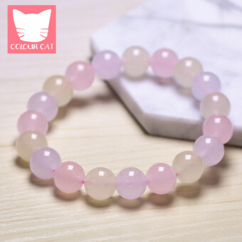 Colour natural candy chalcedony bracelet female models lap crystal bracelets fresh jewelry gift