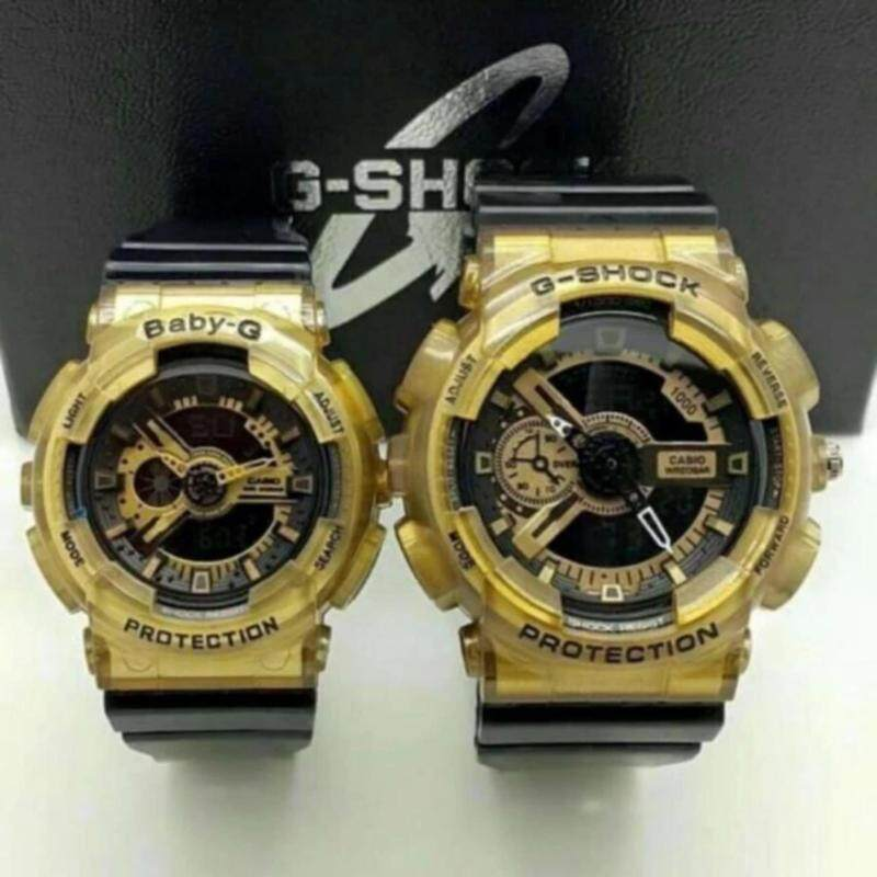 COUPLE G SHOCK *HOT ITEM*GOLD&BLACK(GA110 & BA110) Malaysia