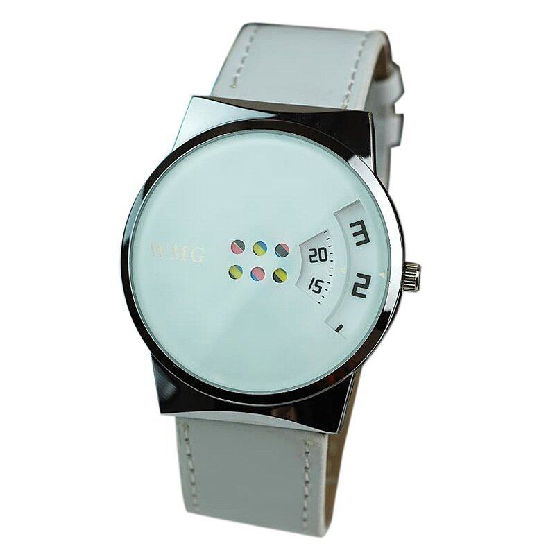 Creative Colorful Carousel Scale Pu Leather Belt Ladies Watches White Malaysia