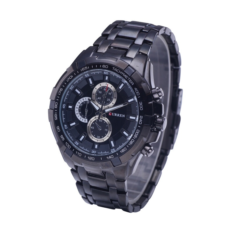 Curren Mens Stainless Steel Strap Watch 8023 Black Malaysia