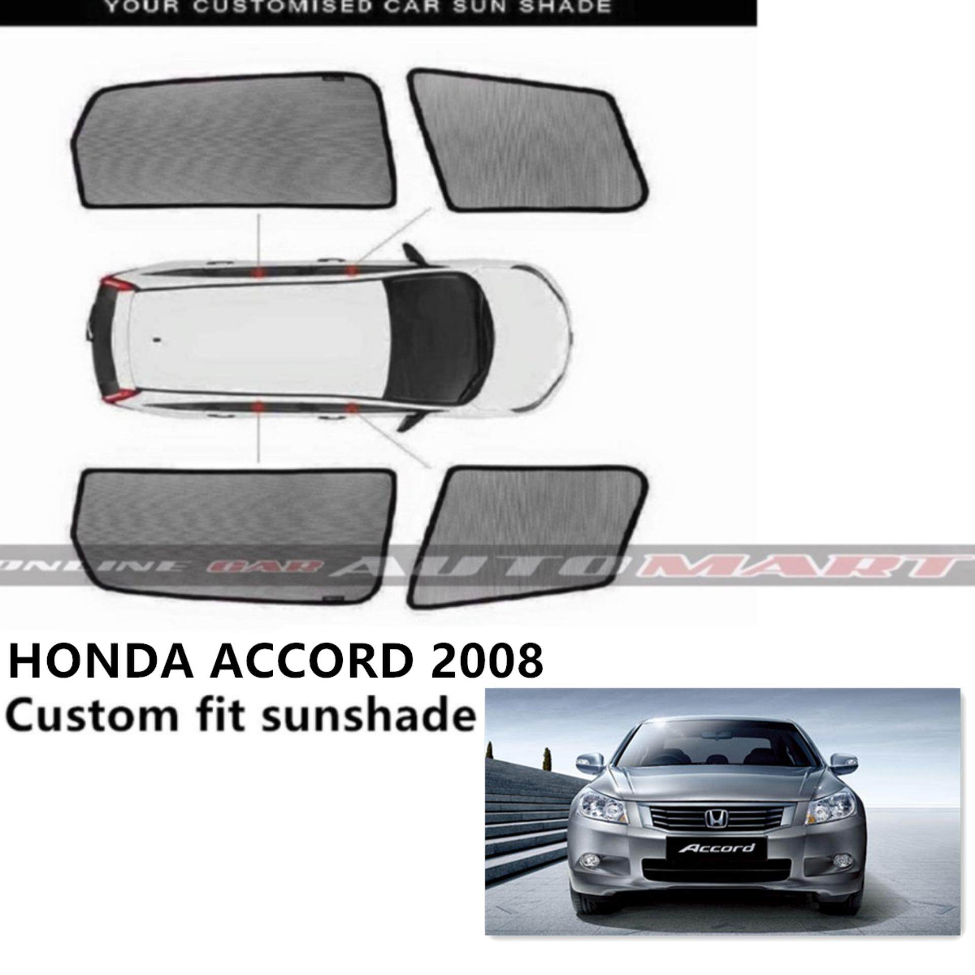Custom Fit OEM Sunshades/ Sun shades for Honda Accord Yr 2008 - 4pcs