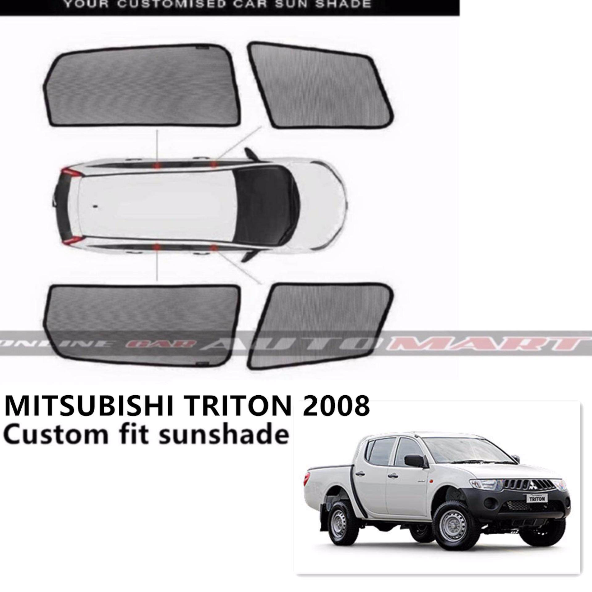 Custom Fit OEM Sunshades/ Sun shades for Mitsubishi Triton Yr 2008-2013 - 4pcs