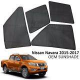 Broz Custom Fit OEM Sunshades/ Sun shades for Nissan Navara 2015 (4PCS)
