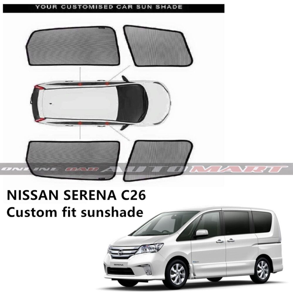 Custom Fit OEM Sunshades/ Sun shades for Nissan Serena New - 6pcs