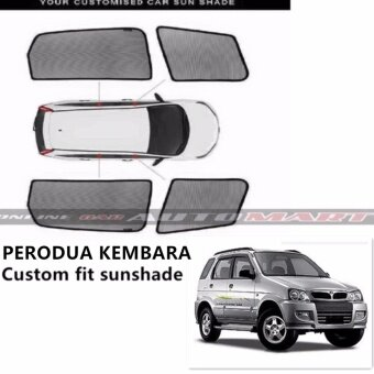 Custom Fit OEM Sunshades/ Sun shades for Perodua Kembara - 4pcs