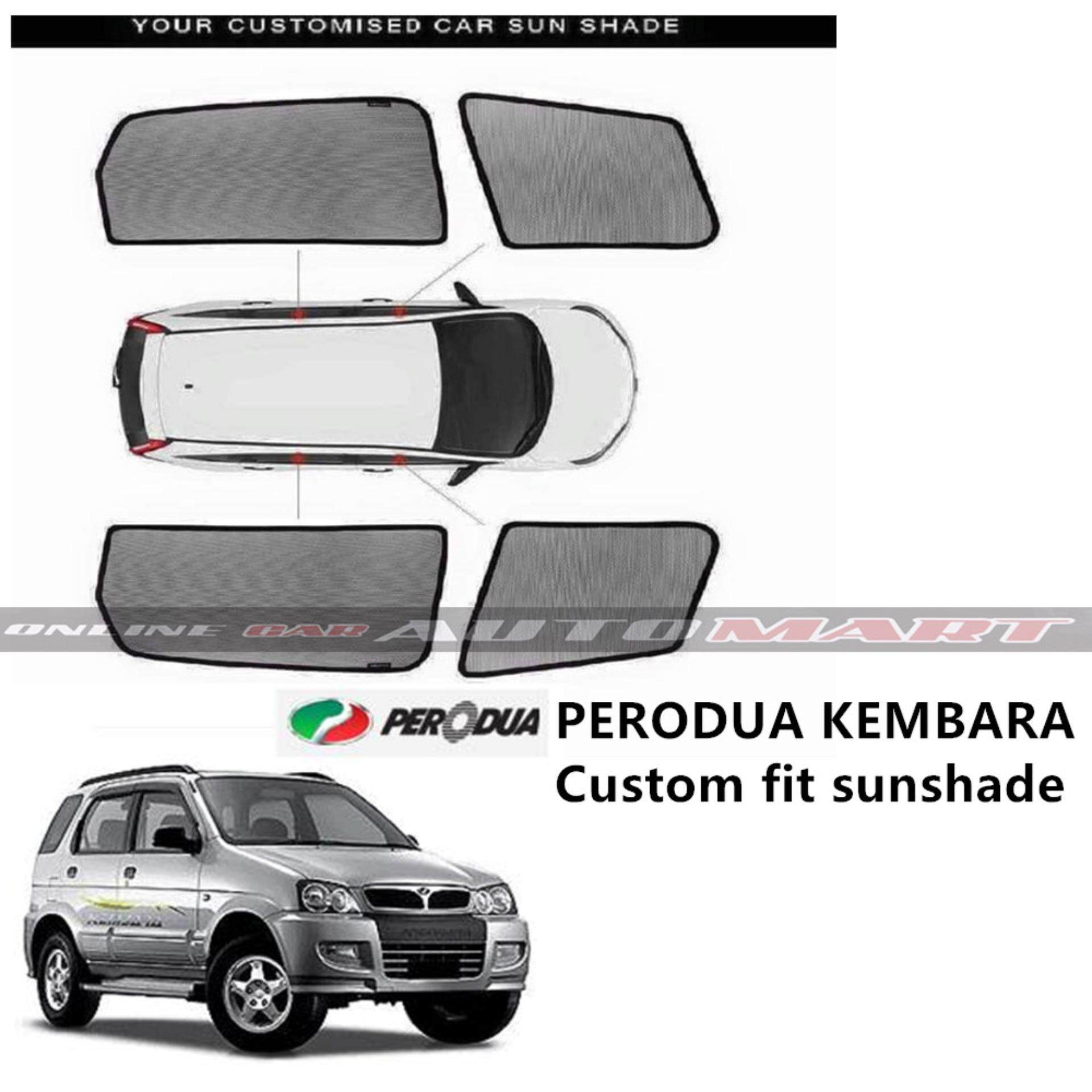 Custom Fit OEM Sunshades/ Sun shades for Perodua Kembara (4PCS)