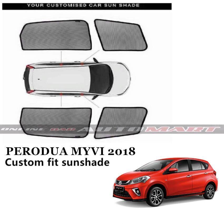 Custom Fit OEM Sunshades/ Sun shades for New Perodua Myvi Yr 2017 2018- 4pcs
